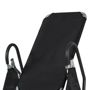 Inversion table backrest