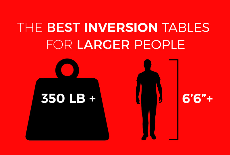 The best inversion tables for larger people