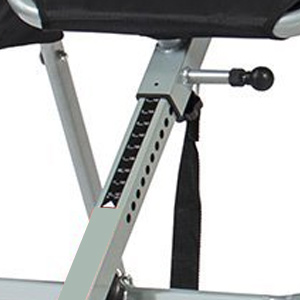 Height scale on an inversion table